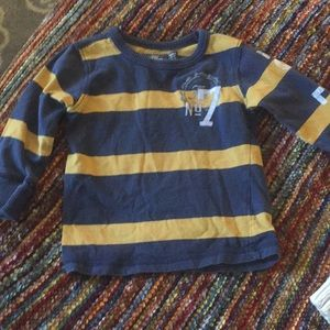 H&M pullover navy and gold size 1-2